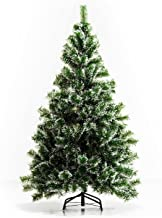 HOMCOM Indoor Christmas Tree Artificial Decoration Xmas Gift with Metal Stand 416 Tips (5FT(150CM))