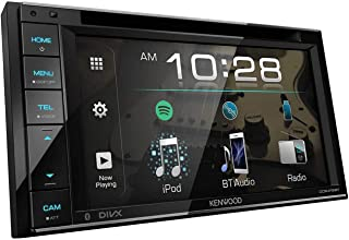 """Kenwood 6.2"""" Double Din Touchscreen DVD CD Bluetooth USB iPod Android Siri Eyes Free Dual Phone Connection Variable Color ... photo"""