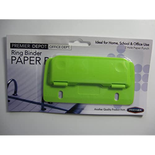 RING BINDER PAPER PUNCH GREEN