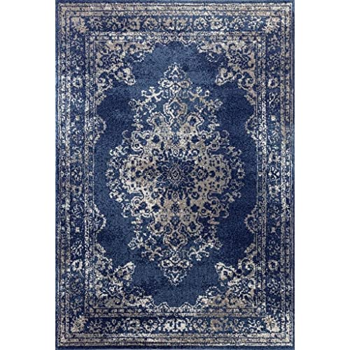 "ORIENTAL BLUE AREA RUG RUNNER 2 X 8 PERSIAN CARPET 15 ACTUAL 1/' 10/"" x 7/' 3/"""