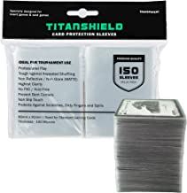 TitanShield (150 Sleeves / Clear Standard Size Board Game and Matte Trading Card Sleeves Deck Protector for Magic The Gath...