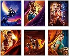 Aladdin 2019 Poster Movie Prints - Set of 6 (8 inches x 10 inches) Photos - Will Smith - Naomi Scott - MENA Massoud