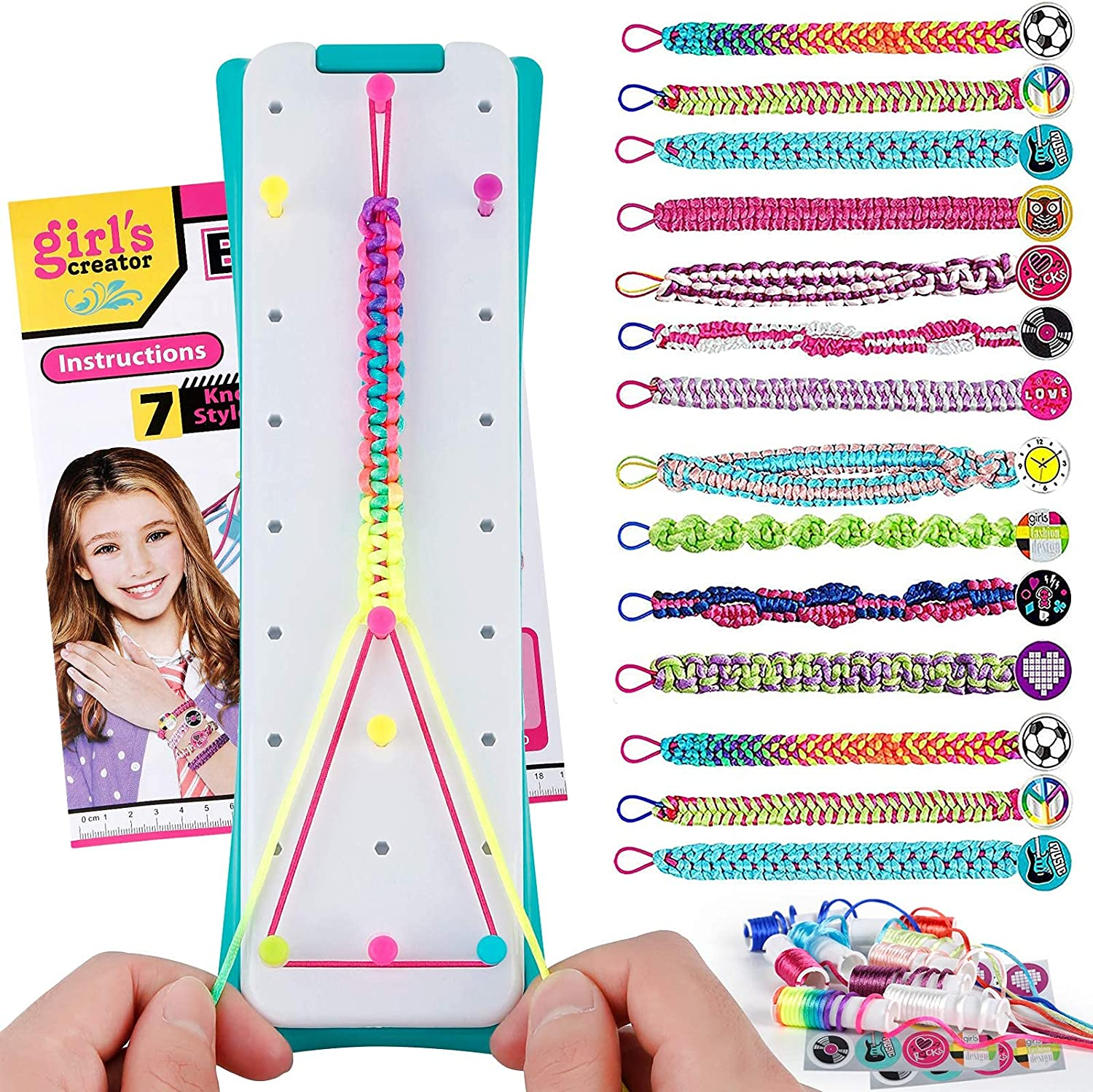 Friendship Bracelet Maker Making Kit for Old Girls Large-scale At the price of surprise sale 5-12 Years C