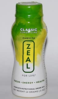Zurvita Zeal for Life Classic Lemon Lime Wellness Drink Mix - 24 Single Servings / 24 Pack