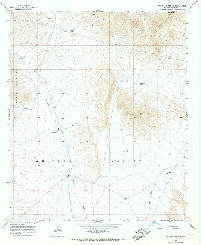 YellowMaps Max 90% OFF Whitlock MTS NE AZ topo Max 60% OFF X Scale map 1:24000 7.5