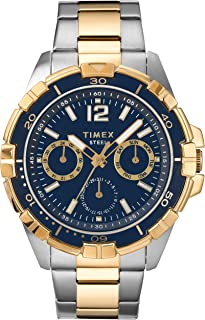 Timex Men's Dress Analog 45mm Stainless Steel Multifunction Bracelet Watch