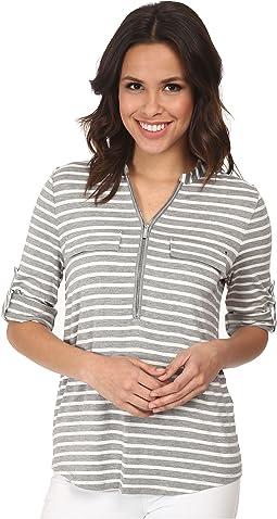 Zip Front Roll Sleeve
