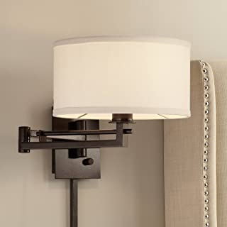 Possini Euro Design Aluno Bronze Swing Arm Wall Lamp - Possini Euro Design