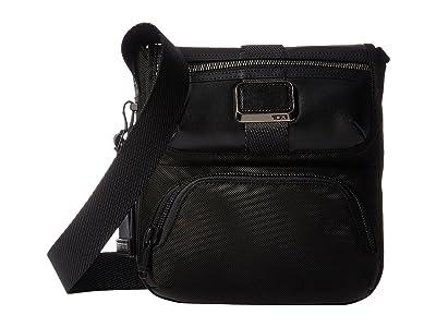 Tumi Alpha Bravo Barton Crossbody (Black) Cross Body Handbags