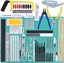 Keadic 87Pcs Modeler Basic Tools Craft Set Gundam Model Tools Kit with Plastic Box and Waterproof Bag for Gundam Car Model...