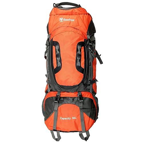 Beefree 80L Trekking rucksacks Hiking Backpacks - Loading from Top   Front  - Waterproof 08898eea0af06