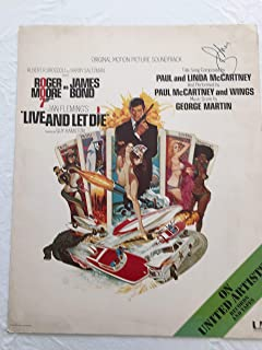 Roger Moore authentic autographed signed original Live and Let Die Poster