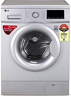 LG 6.5 Kg 5 Star Inverter Fully-Automatic Front Loading Washing Machine (FHM1065ZDL, Luxury Silver, Direct Drive