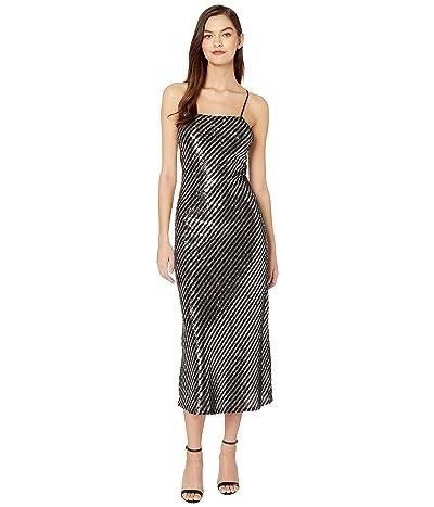 Bardot Slip Dress (Stripe Sequin) Women