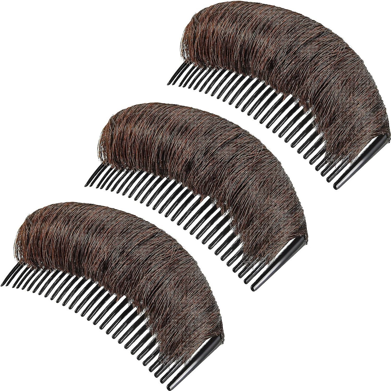 3 Pieces Hair Bun Invisible Bump Clip Base Luxury False Fluf 4 years warranty