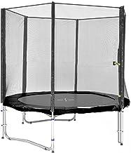 Simple-Jump Cama Elastica - Trampoline de Jardin - UV- Resistente - Calidad superior - Varios colores y tamaños (Negro, 185cm con escalera)