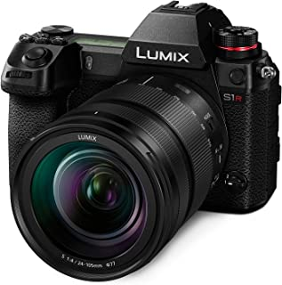 Panasonic Lumix DC-S1R Mirrorless Digital Camera [with 24-105mm Lens] Wi-Fi Enabled + Bluetooth (Black) International Vers...