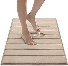 MICRODRY Ultra Absorbent CoreTex Memory Foam Bath Mat with GripTex Skid-Resistant Base 21x34 Linen