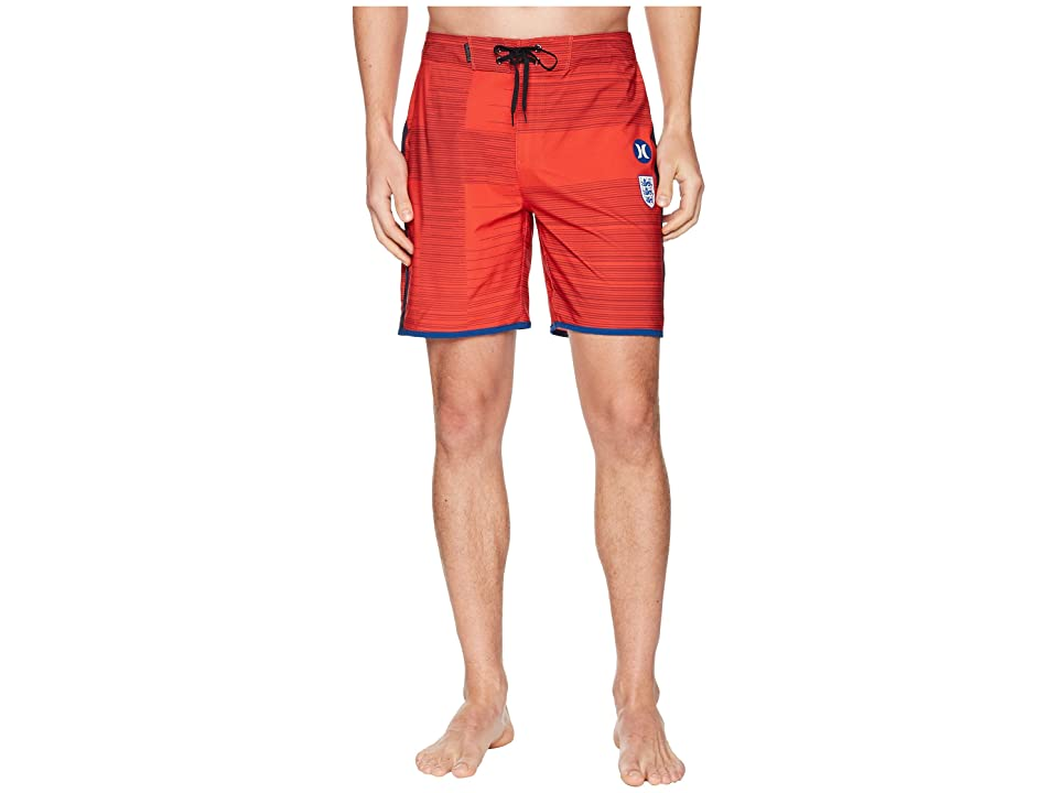 Hurley Phantom England National Team Boardshorts (Challenge Red) Men