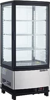 Maxx Cold MECR-32D 3 cu. ft. Pass Through 2 Door LED Lighted Countertop Display Refrigerator Merchandiser