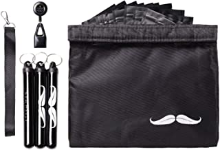 """Stash Man Smell Proof Bag 11"""" x 9"""" Kit - 3 King Size Doob Tubes with Built in Key Rings and a Lanyard, Lighter Leash and Strain Separated Resealable Bags! Perfect Travel Gift"""