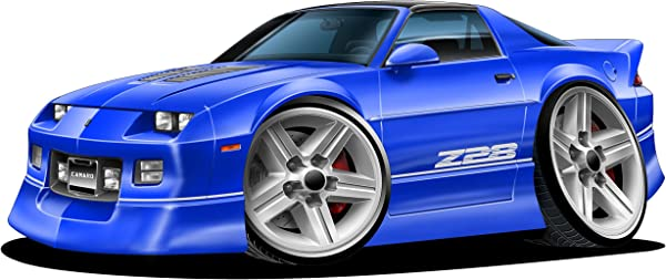 1982 1992 Camaro Z 28 WALL DECAL Vintage 3D Car Movable Stickers Vinyl Wall Stickers For Kids Room