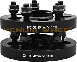 2 Pc 5x100 mm To 5x100 mm Black Hub Centric Wheel Spacers Adapters 56.1 mm Hub Bore 12x1.25 Lug Nuts Fits Scion FR-S & Subuaru Brz Impreza WRX STI Legacy Outback
