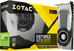 ZOTAC GeForce GTX 1070 Founders Edition 8GB GDDR5 VR Ready Gaming Graphics Card ( ZT-P10700A-10P)