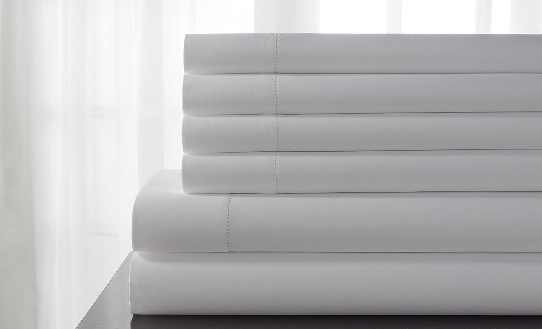 Elite Max 45% Popular OFF Home 600SSQU100DLHS6 Sheet White Queen Set