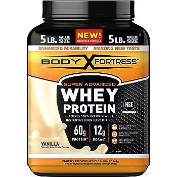 Body Fortress Super Advanced Whey Protein Powder, Gluten Free, Vanilla, 5 Lbs