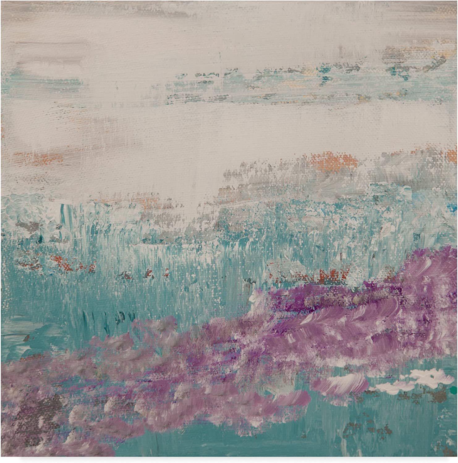 View Of Nature bluee Purple by Hilary Winfield, 14x14-Inch
