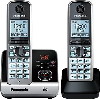 Telefone Sem Fio Panasonic Combo (Base + 1 Ramal) Cinza KX-TG6722LBB
