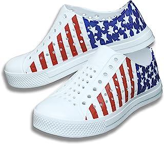 أحذية العلم الأمريكي للأطفال في الرابع من يوليو | صنادل المياه المالحة للبنات| أزياء البنين | أحذية مائية للأولاد | أحذية ...