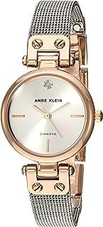 Anne Klein Women's Genuine Diamond Dial Mesh BraceletWatch