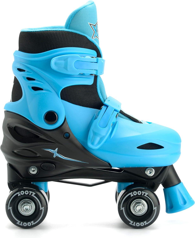 Beginner Adjustable Roller Skates Boys Blue//Black Alivisa Xootz Kids Quad Skates