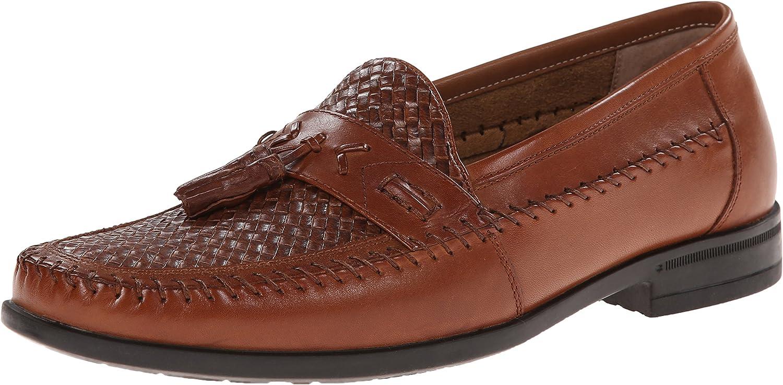 Nunn Bush Men's Strafford Woven Slip-On Loafer, Cognac, 13 M US
