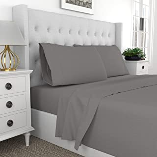 Premium 400-Thread-Count Best 100% Cotton 4 Piece Ultimate Percale Bed Sheet Set, Super Soft Finish, Cool Crisp,Patented F...