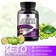 Glowsik Keto Capsules Ultra Weight Loss Fat Burner Supplement with (Green Tea + Garcinia Cambogia + Green Coffee) Extract 1000Mg (90 Capsules)