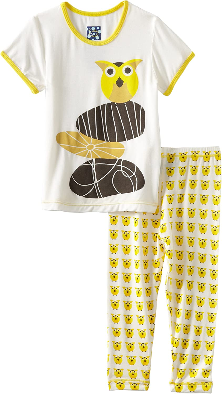 KicKee Pants Unisex Baby Short Sleeve Print Pajama Set