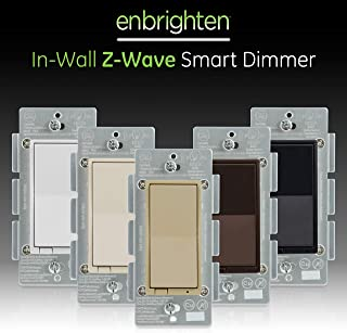 GE Enbrighten Z-Wave Plus Smart Light Dimmer, Compatible with Alexa, Google Assistant, SmartThings, Wink, Zwave Hub Required, Repeater/Range Extender, 3-Way Compatible, Ivory, 38193