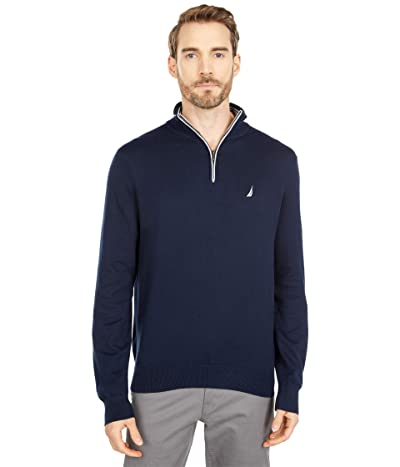Nautica Navtech 1/4 Zip Sweater (Navy) Men