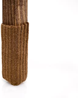 Small/Light Caramel Brown-NancyProtectz Patented with Rubberized Grips/Chair Leg Floor Protectors