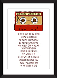 Dire Straits - Brothers in Arms Lyrics - Unframed Print