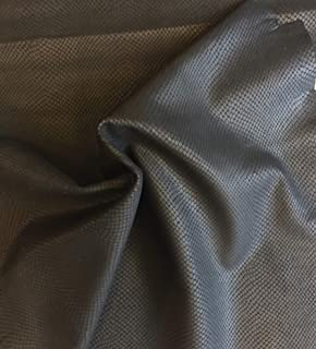 Snakeskin Embossed Leather Hides - Black Color - Genuine Lambskin Craft Material – 5 sq ft - AVG 26¨x 24¨at Longest and widest - Home Decor Projects - Upholstery Fabric Supply - Leather Treasure Shop