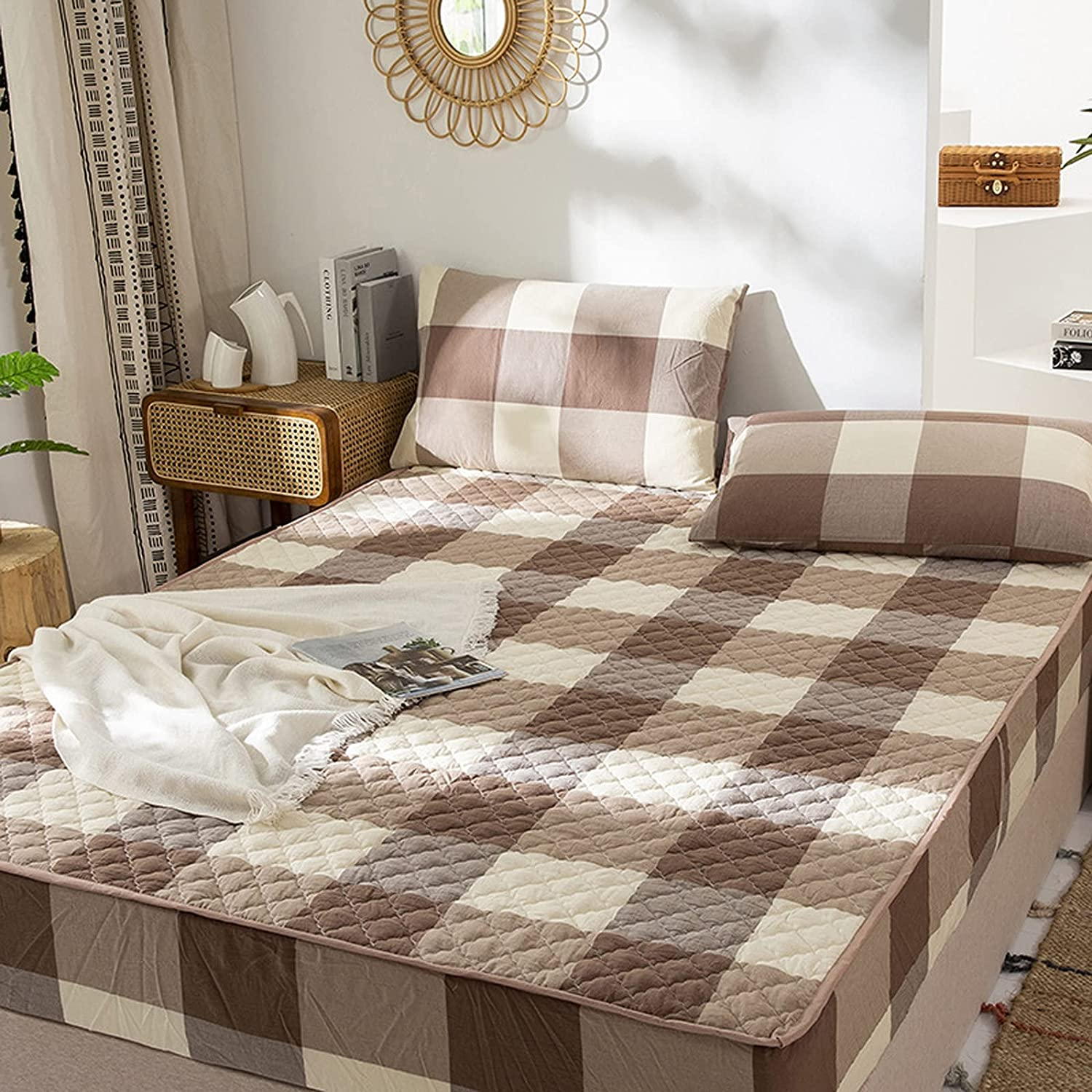 LTLJX Quilted Mattress Super Special SALE Max 70% OFF held Protector Fully Non Allergenic Do Fitted