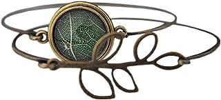 Set di due bracciali in vera foglia -branch- / real leaf Set of two Bangle Bracelet -branch-