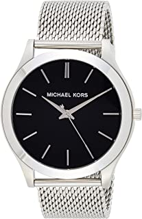 Michael Kors Women's Black Dial Stainless Steel Band Watch - MK8606