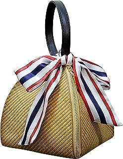 Women Weave Straw Bag Handwoven Convertible Crossbody Shoulder Bag Summer Beach Bag and Handbags
