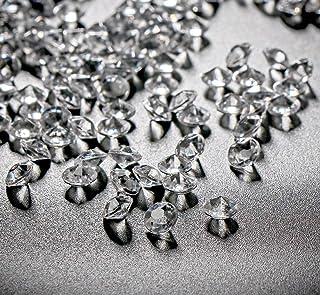ABSOFINE 10000 Pezzi 6 mm Acrilico Trasparente Diamante Dispersione Festa di Nozze Matrimonio Cristallo Tavolo Coriandoli