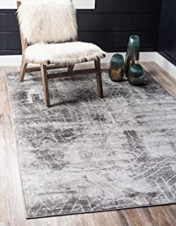 Unique Loom 3137785 Sofia Collection Traditional Vintage Beige Area Rug, 8' 0 x 10' 0 Rectangle, Dark Gray